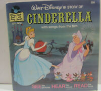 Walt Disney Story of Cinderella  (#308) 24 Page Read-Along Book and Record 1977