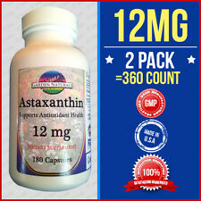 2Pak 360Caps Astaxanthin Powerful Antioxidant Support 12mg Per Serving Size- USA
