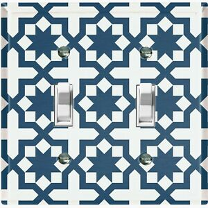 Metal Light Switch Cover Wall Plate For Kitchen Modern Victorian Tile TIL110
