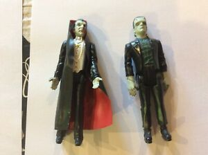 1980 remco monsters Dracula and Frankenstein figures