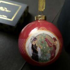 Art Deco Weihnachten Keramik Weihnachtskugel Flapper Mädchen hängende Dekoration Bild