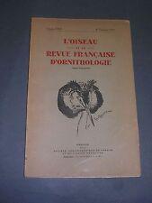 Ornithologie L'oiseau et la revue française d'ornithologie Volume XXIII 1953