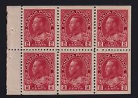 Canada Sc #106a (1917-22) 2c carmine Admiral BOOKLET PANE Mint VF NH