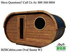 Outdoor Sauna Kit for 4-6 Persons, 2 Rooms, HarviaM3 Heater,  Free Shipping! NEW