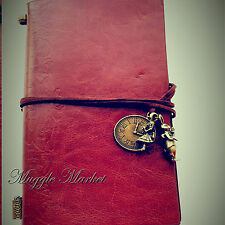Brown color Journal Alice in wonderland clock rabbit charm fantasy diary journal