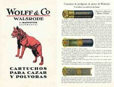 Wolff & Co c1928 Shotshell Ammunition, Hannover, Germany