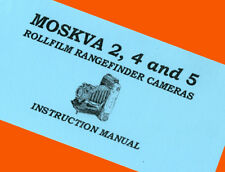 ENGLISH MANUAL for MOSKVA-2 MOSKVA-4 MOSKVA-5 film camera INSTRUCTION BOOKLET