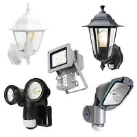 UK~ENERGY SAVING SECURITY LIGHT LAMP LANTERN OUTDOOR MOTION SENSOR LED PIR FLOOD
