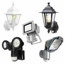 UK~ENERGY SAVING SECURITY LIGHT LAMP LANTERN OUTDOOR MOTION SENSOR LED PIR FLOOD