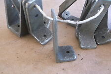 """Chrome Over Bronze L brackets for Boat Tables or shelving 3.5"""" x 1.5"""" old style"""