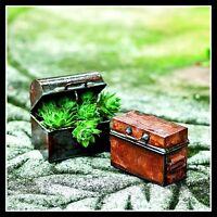 Antiqued Chest  Set of 2  Dollhouse Miniature Fairy Faerie Gnome Garden JE 01520