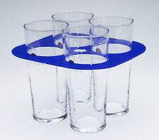 Foldable Beer Glass / Cup Holder - holds 4 & pocket size - Pk 30