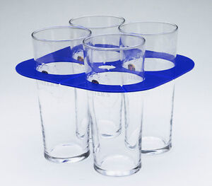 Foldable Beer Glass / Cup Holder - holds 4 & pocket size - each