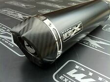 PipeWerx Kawasaki ZX6R G-J Models Black Round,Carbon Outlet Exhaust Can,Silencer