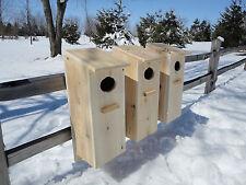 Wood Duck House, Goldeneye, Merganser, Mandarin Nest Box . ( 3 pack )