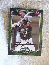 Kansas City Royals Lane Adams Signed 2012 Midwest League All-Star Card Auto