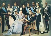 ~~~ ORGINAL~~ POSTKARTE ~~~ aus Norwegen Königsfamilie trifft Oskar II