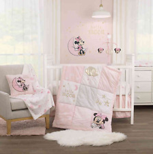 Disney Twinkle Twinkle Minnie Mouse 3-Piece Crib Bedding Set in Pink
