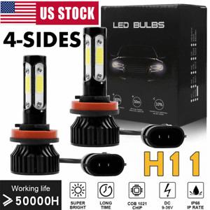 4SIDE H11 LED Headlight Bulb High Beam 360000LM 1800W 6000K Super White Bright