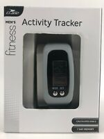 Men's Fitness Activity Tracker by Crane Steps Calories Time Distance Goals NIB