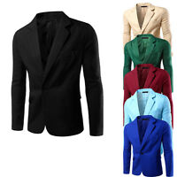Stylish Men's Casual Formal One Button Suit Blazer Coat Jacket Slim Fit Tops New