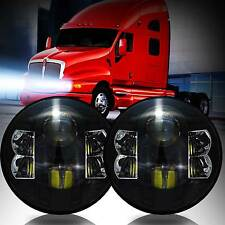 Kenworth T2000 Headlight HID LED Black Projector Xenon Trailer Truck Headlamps