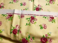"Kaufmann Soil & Stain Repellent Decorator Fabric 49"" x 55"" Yellow Floral"