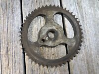 ANTIQUE BIKE BICYCLE CHAINRING OLD ONE PIECE CRANK CHAINRING 6