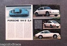 BC31 - Clipping-Ritaglio -1972- PROVE SU STRADA , PORSCHE 911 S 2,4