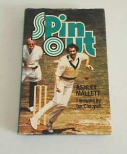 Spin Out by Ashley Mallett Vintage Cricket Hard Cover 1977 1st Edition