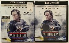 PATRIOTS DAY 4K ULTRA HD BLU RAY 2 DISC SET + RARE OOP SLIPCOVER SLEEVE BUY NOW