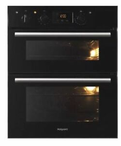HOTPOINT Class 2 DU2 540 BL Electric Built-under Double Oven In Black