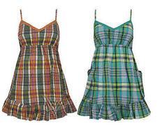 Summer/Beach Cotton Check Dresses for Women