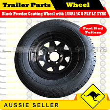 185R14C 8 PLY 14 inch Wheel and Tyre Package (Black Powder Coating) 1PC