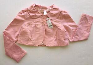 NWT Gymboree Ice Cream Social Girls Size 12 Pink Silk Crop Jacket