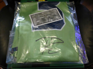 RUSSELL WILSON SIGNED AUTOGRAPHED NIKE COLOR RUSH JERSEY WILSON COA SEAHAWKS