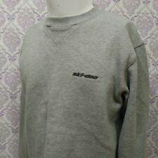 Ski Doo BRP Sweatshirt Mens Size S Long Sleeve Grey Pullover Embroidered Logo