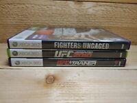 Xbox 360 Video Game Lot UFC Trainer Undisputed 2010 Fighters Uncaged Fitness