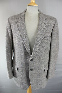CLASSIC DI BENEDETTO LIGHT BROWN HANDWOVEN PURE WOOL HARRIS TWEED JACKET 42 INCH