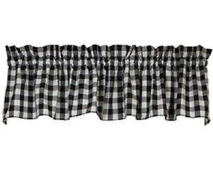 Black Valance Black  and white valance Black Geometric Valance Curtain Black  Window Topper