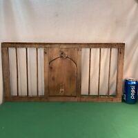Vtg Antique Primitive Wood Chicken Coop Crate Door Country Farm Wall Hang Frame