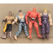 """Lot4pcs JAZWARES STREET FIGHTER RED SETH GUILE RYU 4""""Action FIGURE Boy Toys"""