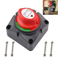 0-48V Battery Isolator Disconnect Rotary Switch Cut On/Off for Car SUV RV Marine