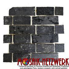 Mosaik Verbund anthrazit/Black Jack Fliesenspiegel Küche Art:34-0208 | 10 Matten