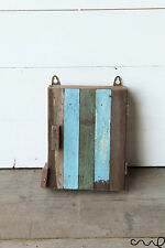 Handmade Wooden Key Box 4 Hooks Wall Mounting Rustic Shabby Vintage Chic