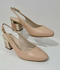 Moda in Pelle Daina Block Heel Court Shoe Nude  Leather Size UK 5 BRAND NEW