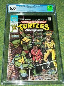 Teenage Mutant Ninja Turtles Adventures #1 1988 CGC 6.0 1st Bebop, Rocksteady
