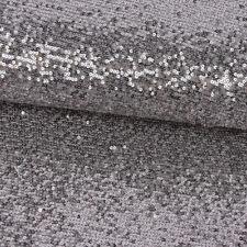 Faschingsstoff Stretch Tüll Pailletten silber grau Glitzer 1,28m Breite
