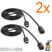 2x Verlängerungskabel für Super Nintendo SNES Classic Mini Controller Kabel