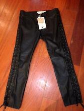 Fabuleux Pantalon Cuir Isabel MARANT H & M Biker Noir Neuf Etiquette T 42 !!